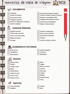 checklist mala viagem